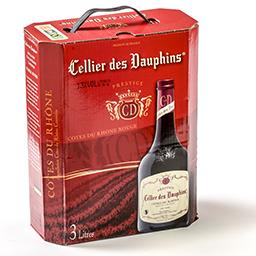 Vin rouge - côtes du rhône - prestige