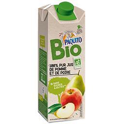 100% pur jus de pomme et de poire BIO