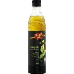 Vinaigrette vinaigre balsamique, huile d'olive et ba...