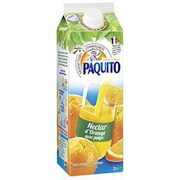 Nectar d'orange à base de jus d'orange concentré