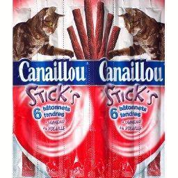 Stick's, bâtonnets tendres pour chat, à l'agneau, à ...