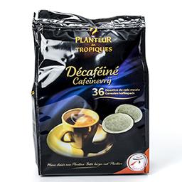 Café moulu décaféiné - café pads