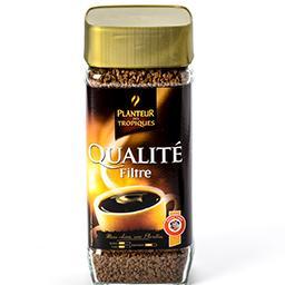 Qualité filtre - café soluble