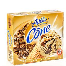 Cônes de glace - café