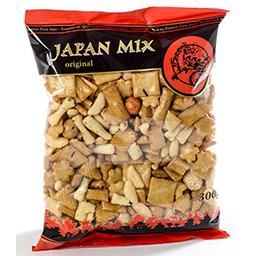 Mélange de cacahuètes et de crackers de riz