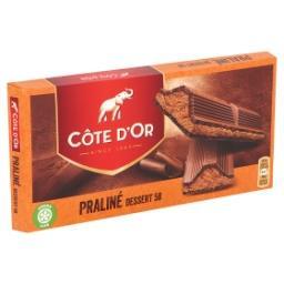 Tablette de chocolat dessert 58 fourré au praliné