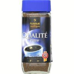 Qualité filtre décaféiné, café soluble lyophilisé dé...