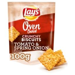 Oven crunchy biscuits - tomato and spring onion