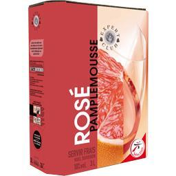 Boisson à base de vin rosé pamplemousse