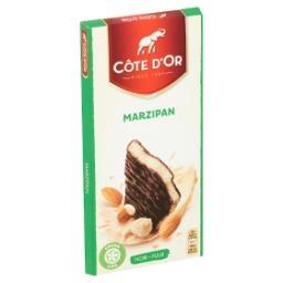 Marzipan - tablette de chocolat noir fourré à la pât...