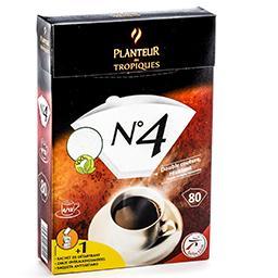Filtres à café n°4 - double couture - résistant + 1 ...