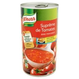 Suprême de tomates avec morceaux