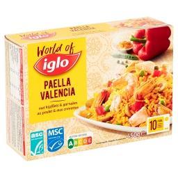 Paella valencia au poulet, crevettes et légumes