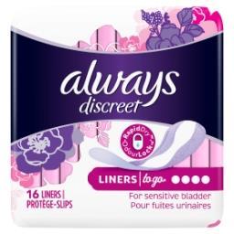Discreet Protège-Slips To Go 16, Pour Fuites Urinair...