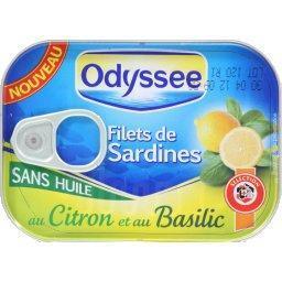 Filets de sardines au citron et au basilic sans huil...