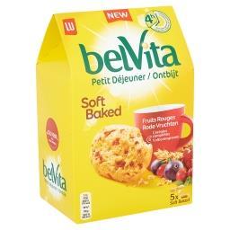Belvita - petit déjeuner - soft baked - fruits rouge...