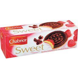 Sweet, tendres génoises à la framboise et au chocola...