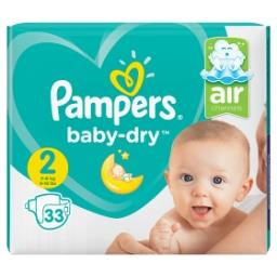 Baby-Dry Taille 2, 33 Langes, Absorption Fiable
