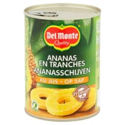 Tranches d'ananas au jus