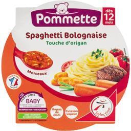Spaghetti bolognaise touche d'origan, dès 12 mois