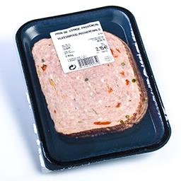 Pain de viande provençal en tranches