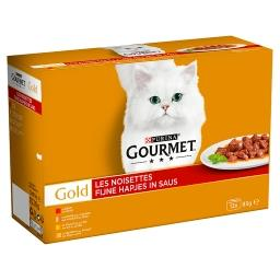 Gold les noisettes - chat adulte - boeuf, dinde et c...