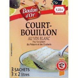 Court-bouillon au vin blanc pour cuisson des poisson...