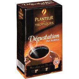 Dégustation, café moulu pur arabica