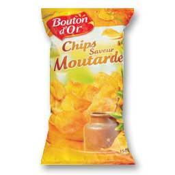 Chips saveur moutarde