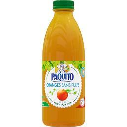 Jus oranges sans pulpe