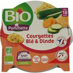 Courgettes blé & dinde BIO, dès 18 mois