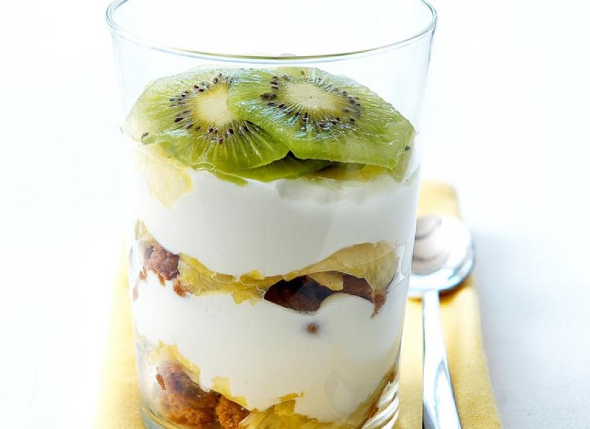Tiramisu à l'ananas et aux kiwis