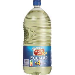 Huile végétale Equalio,BOUTON D'OR,la bouteille de 2l
