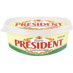 Beurre demi sel PRESIDENT,PRESIDENT,500g