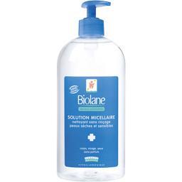 Solution micellaire nettoyant sans rinçage peaux sèches,BIOLANE,le flacon de 750 ml