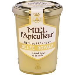 Miel de France et gelée royale L'APICULTEUR, pot en verre de ,MIEL L'APICULTEUR,