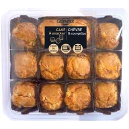 Petits cakes chèvre et courgette,CARREFOUR,la barquette de 12 - 140 g