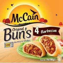 Original Bun's Barbecue ,MC CAIN,4 pièces, 400g