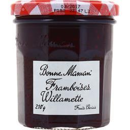 Confiture framboises willamette BONNE MAMAN, bocal de ,ANDROS,210g
