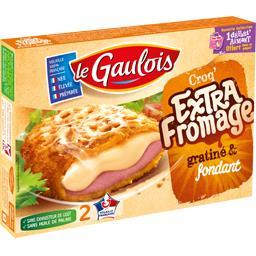 Croq' Extra fromage gratiné & très fondant,LE GAULOIS,la boite de 2 - 200 g