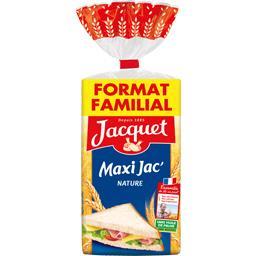 Pain de mie Maxi Jac' nature,JACQUET,le paquet de 21 tranches - 825 g