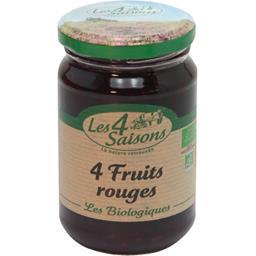 Confiture bio aux 4 fruits rouges LES 4 SAISONS,SAISONS,360g