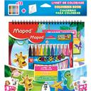 Maped Livret de coloriage & feutres assortis mer/jungle le livret + 12 feutres