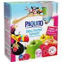 Paquito Spécialité de fruits pomme framboise sans sucres ajo... les 4 gourdes de 90 g