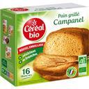 Céréal bio Pain grillé Campanel BIO la boite de 16 tranches - 275 g