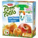 Materne Spécialité de fruits pomme abricot les 4 gourdes de 90 g