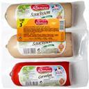 Monique Ranou Assortiment de saucissons blancs cuits à l'ail et ce... le paquet de 3 - 850 g