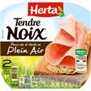 Herta Tendre Noix - Jambon de porcs élevés en plein air la barquette de 2 tranches - 70 g