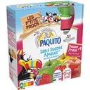 Paquito Spécialité de fruits pomme fraise sans sucres ajouté... les 4 gourdes de 90 g