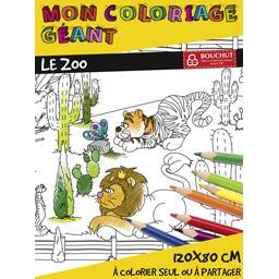 Coloriage géant Le Zoo 80x120 cm